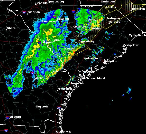 Radar Image for Severe Thunderstorms near Bowman, SC at 1/11/2020 11:45 PM EST
