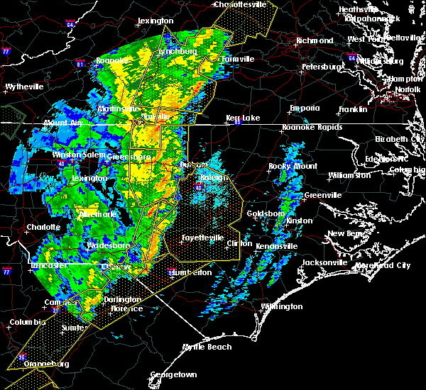 Radar Image for Severe Thunderstorms near Clinton, NC at 1/11/2020 11:55 PM EST