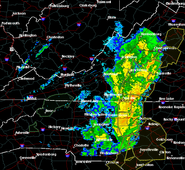 Radar Image for Severe Thunderstorms near Brookneal, VA at 1/11/2020 11:56 PM EST