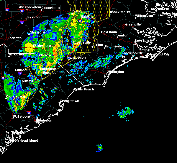 Radar Image for Severe Thunderstorms near Pembroke, NC at 1/12/2020 12:31 AM EST