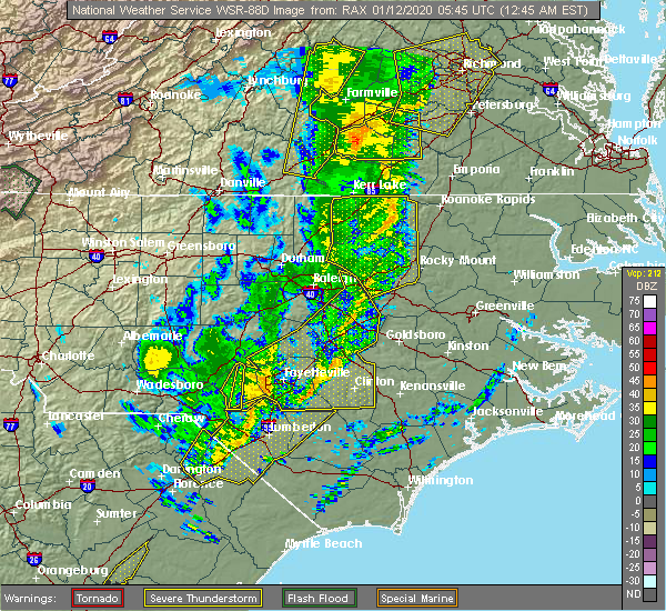 Radar Image for Severe Thunderstorms near Nashville, NC at 1/12/2020 12:50 AM EST