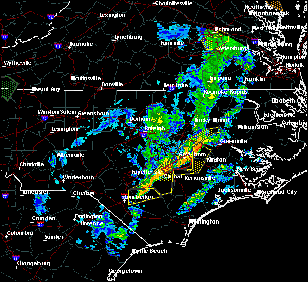 Radar Image for Severe Thunderstorms near Farmville, NC at 1/12/2020 1:48 AM EST