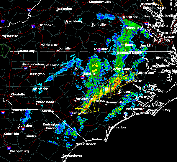Radar Image for Severe Thunderstorms near Mount Olive, NC at 1/12/2020 1:56 AM EST