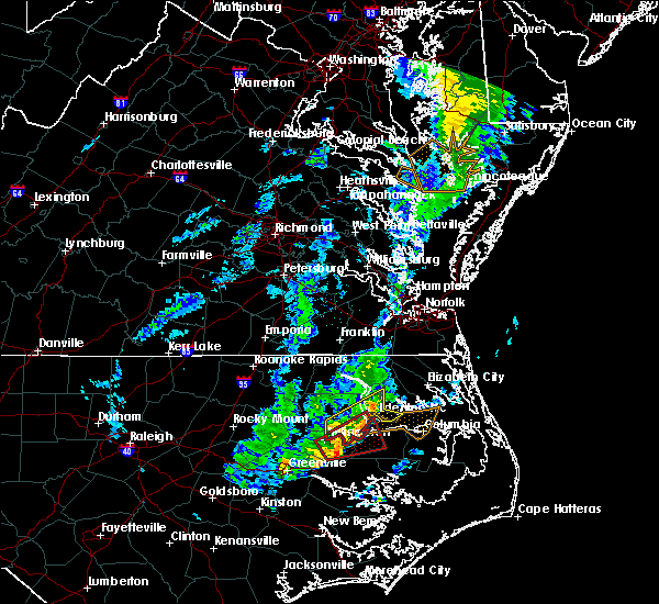 Radar Image for Severe Thunderstorms near Jamesville, NC at 1/12/2020 2:59 AM EST