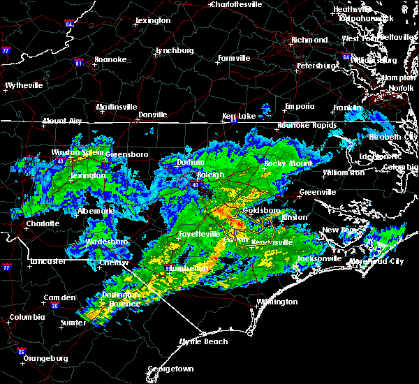 Radar Image for Severe Thunderstorms near Mount Olive, NC at 1/13/2020 2:40 PM EST