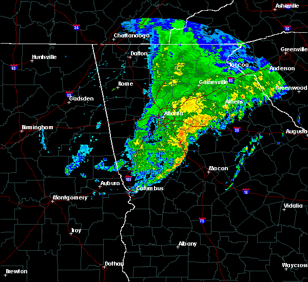 Radar Image for Severe Thunderstorms near Jackson, GA at 1/14/2020 12:37 AM EST