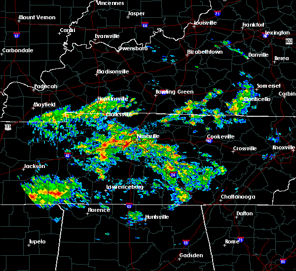Radar Image for Severe Thunderstorms near Wrigley, TN at 1/14/2020 1:16 AM CST