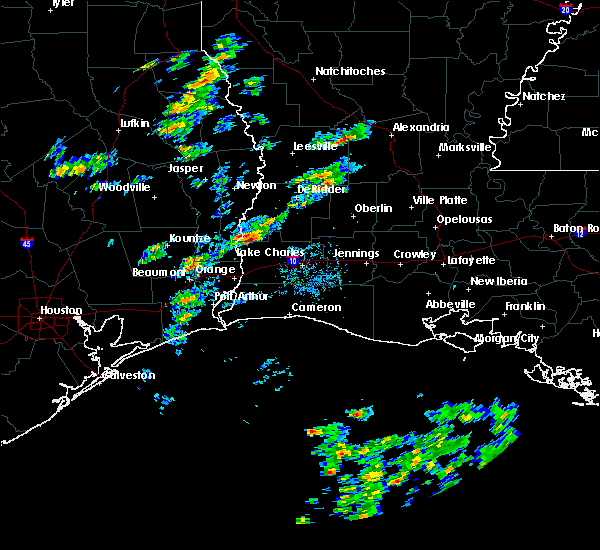 Radar Image for Severe Thunderstorms near Starks, LA at 2/5/2020 10:30 AM CST