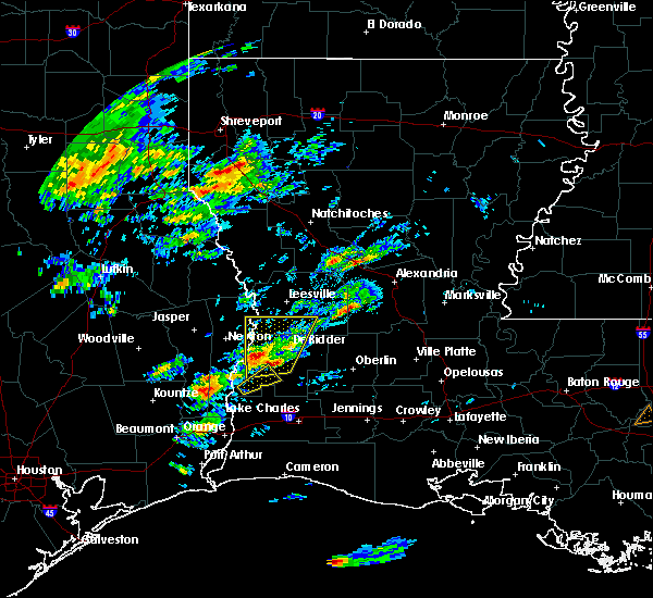 Radar Image for Severe Thunderstorms near Merryville, LA at 2/5/2020 10:53 AM CST