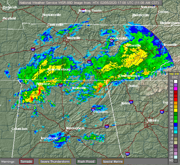 Radar Image for Severe Thunderstorms near Ider, AL at 2/5/2020 11:10 AM CST