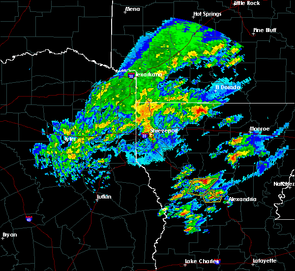 Radar Image for Severe Thunderstorms near Homer, LA at 2/5/2020 12:07 PM CST