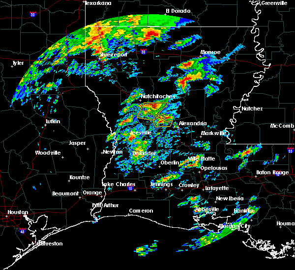 Radar Image for Severe Thunderstorms near Calvin, LA at 2/5/2020 12:09 PM CST