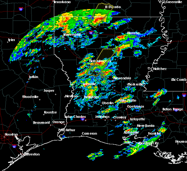 Radar Image for Severe Thunderstorms near Calvin, LA at 2/5/2020 12:20 PM CST