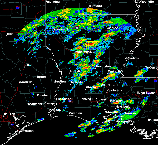Radar Image for Severe Thunderstorms near Dodson, LA at 2/5/2020 12:38 PM CST