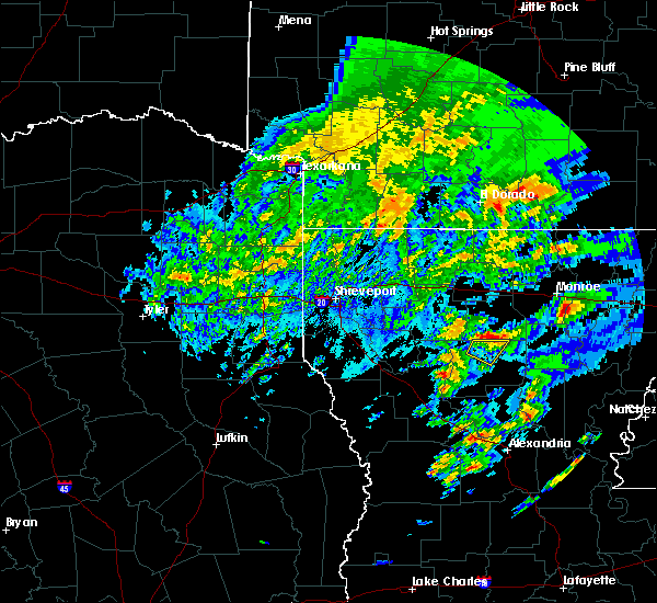 Radar Image for Severe Thunderstorms near Claiborne, LA at 2/5/2020 12:45 PM CST