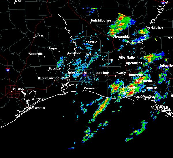 Radar Image for Severe Thunderstorms near New Iberia, LA at 2/5/2020 1:22 PM CST
