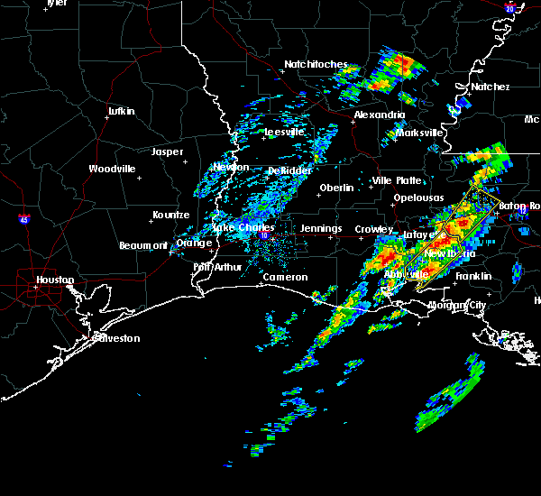 Radar Image for Severe Thunderstorms near New Iberia, LA at 2/5/2020 1:41 PM CST