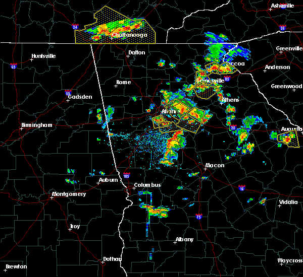 Radar Image for Severe Thunderstorms near Oxford, GA at 6/24/2015 4:23 PM EDT