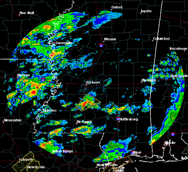 Radar Image for Severe Thunderstorms near New Hebron, MS at 2/5/2020 2:10 PM CST