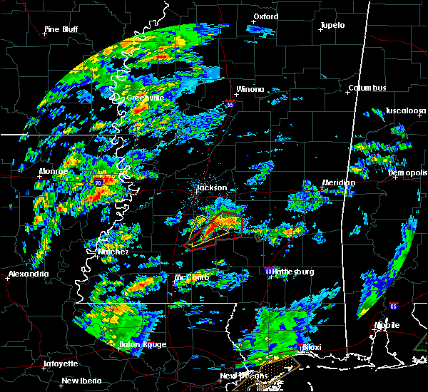 Radar Image for Severe Thunderstorms near Puckett, MS at 2/5/2020 2:27 PM CST