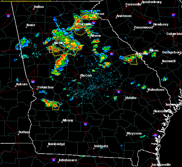 Radar Image for Severe Thunderstorms near Plains, GA at 6/24/2015 4:26 PM EDT