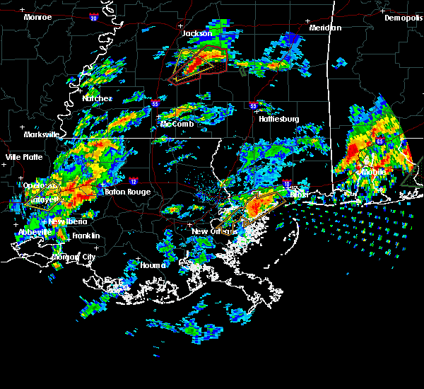 Radar Image for Severe Thunderstorms near Baton Rouge, LA at 2/5/2020 2:30 PM CST