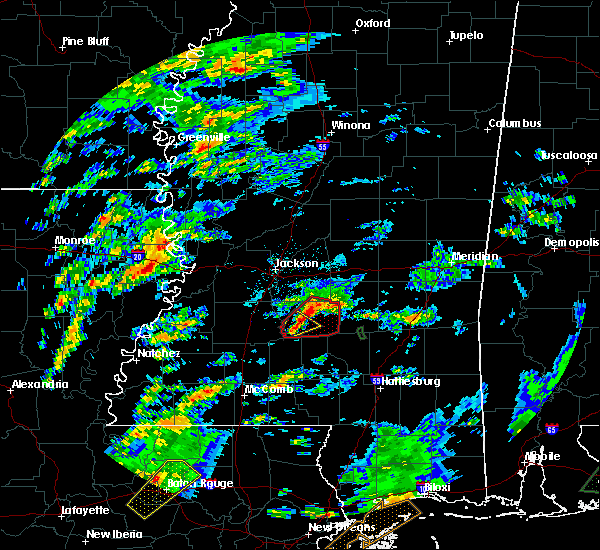 Radar Image for Severe Thunderstorms near Puckett, MS at 2/5/2020 2:35 PM CST