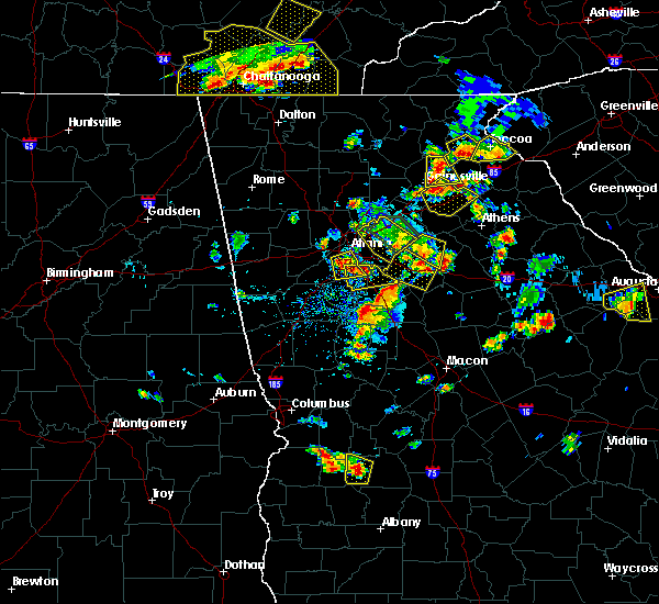 Radar Image for Severe Thunderstorms near Atlanta, GA at 6/24/2015 4:33 PM EDT