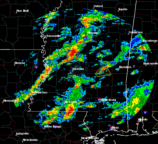 Radar Image for Severe Thunderstorms near Newton, MS at 2/5/2020 3:53 PM CST