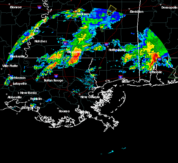 Radar Image for Severe Thunderstorms near Purvis, MS at 2/5/2020 4:02 PM CST
