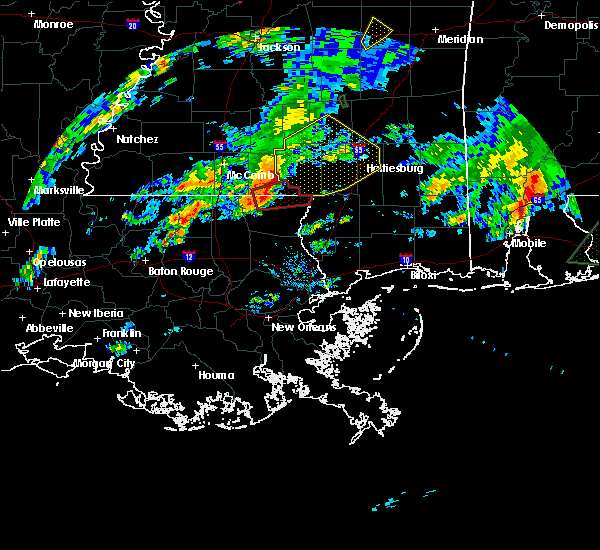 Radar Image for Severe Thunderstorms near Purvis, MS at 2/5/2020 4:09 PM CST