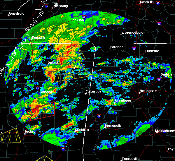 Radar Image for Severe Thunderstorms near Saltillo, MS at 2/5/2020 4:18 PM CST