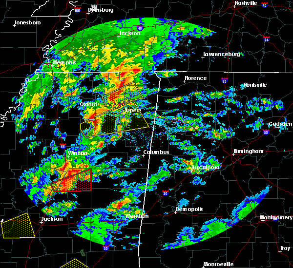 Radar Image for Severe Thunderstorms near Rienzi, MS at 2/5/2020 4:25 PM CST