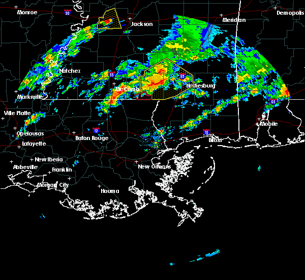 Radar Image for Severe Thunderstorms near Purvis, MS at 2/5/2020 4:33 PM CST