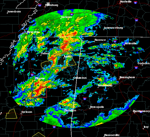 Radar Image for Severe Thunderstorms near Saltillo, MS at 2/5/2020 4:38 PM CST