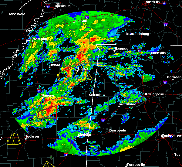Radar Image for Severe Thunderstorms near Corinth, MS at 2/5/2020 4:48 PM CST