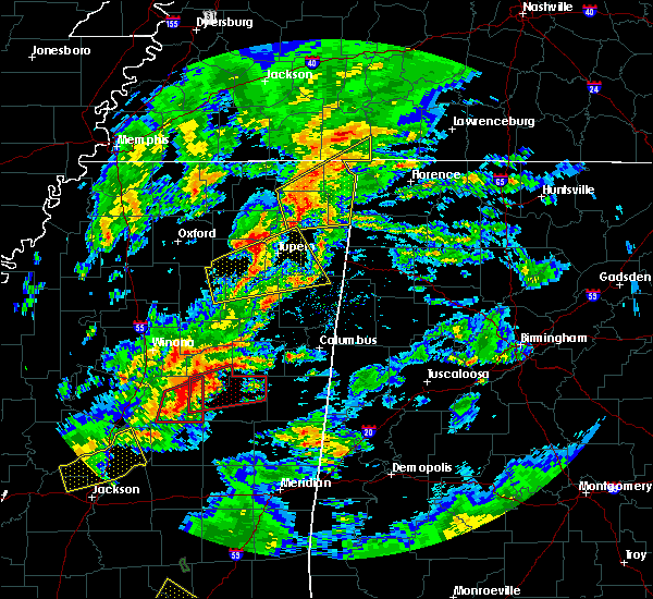 Radar Image for Severe Thunderstorms near Tuscumbia, AL at 2/5/2020 4:56 PM CST