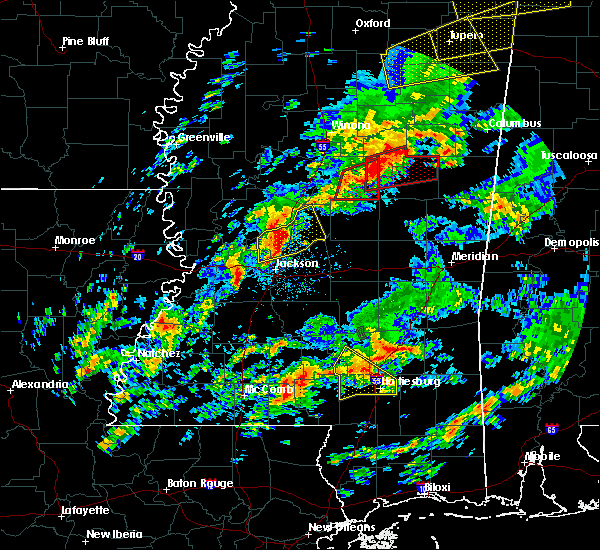 Radar Image for Severe Thunderstorms near Ridgeland, MS at 2/5/2020 4:58 PM CST