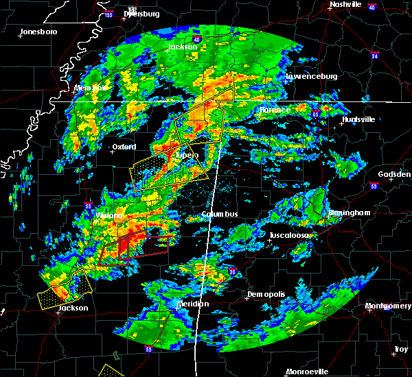 Radar Image for Severe Thunderstorms near Saltillo, MS at 2/5/2020 4:59 PM CST