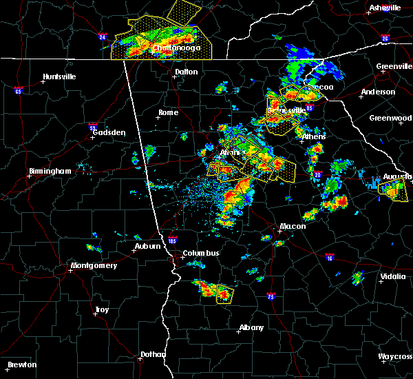 Radar Image for Severe Thunderstorms near Social Circle, GA at 6/24/2015 4:35 PM EDT