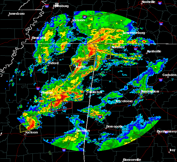 Radar Image for Severe Thunderstorms near Mississippi State, MS at 2/5/2020 5:13 PM CST