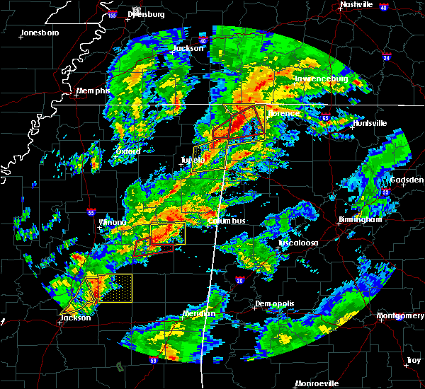 Radar Image for Severe Thunderstorms near Tuscumbia, AL at 2/5/2020 5:29 PM CST