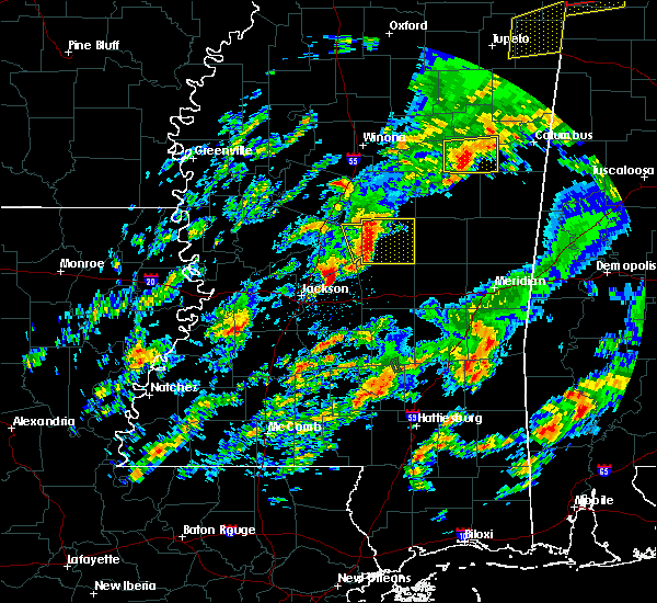 Radar Image for Severe Thunderstorms near Pearl River, MS at 2/5/2020 5:37 PM CST