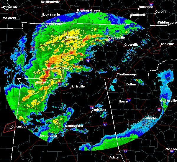 Radar Image for Severe Thunderstorms near Lawrenceburg, TN at 2/5/2020 6:13 PM CST