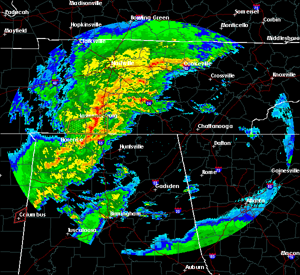 Radar Image for Severe Thunderstorms near Lewisburg, TN at 2/5/2020 6:29 PM CST