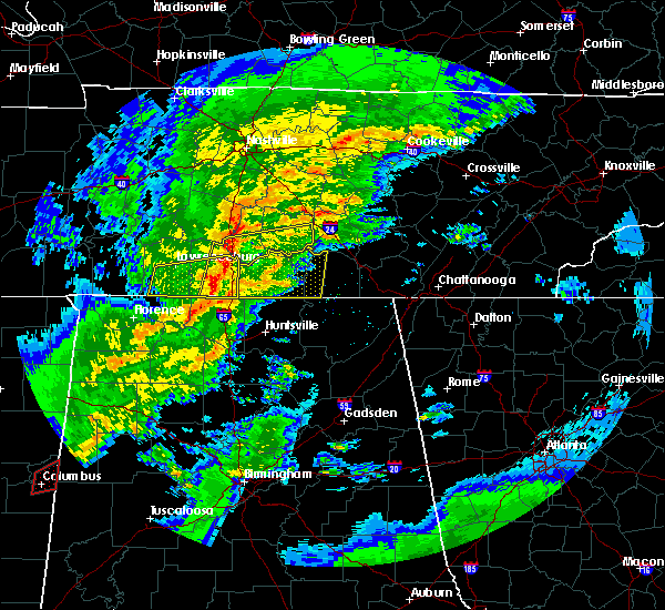 Radar Image for Severe Thunderstorms near Flintville, TN at 2/5/2020 6:32 PM CST