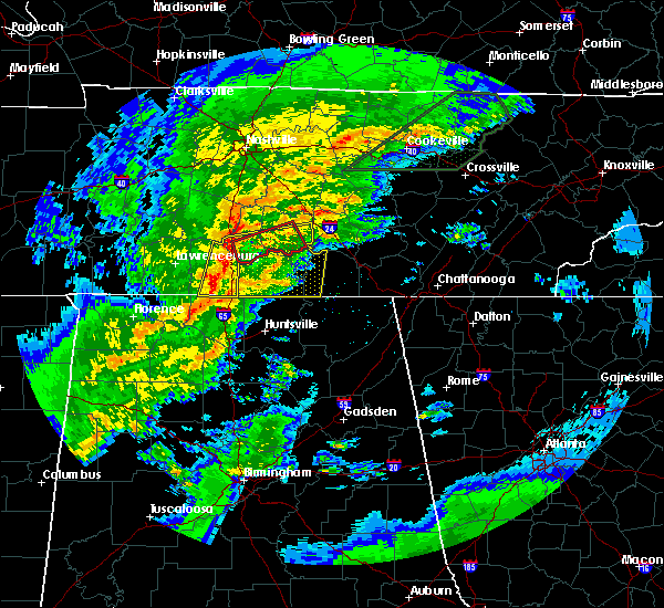 Radar Image for Severe Thunderstorms near Lewisburg, TN at 2/5/2020 6:37 PM CST