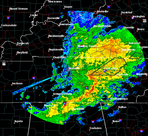 Radar Image for Severe Thunderstorms near Monterey, TN at 2/5/2020 7:35 PM CST