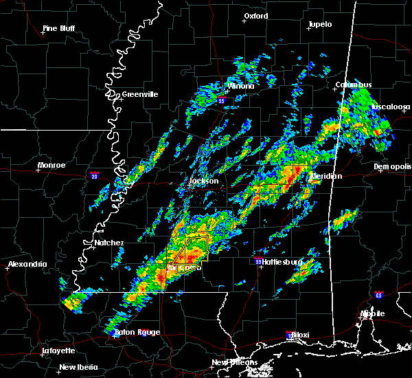 Radar Image for Severe Thunderstorms near Lauderdale, MS at 2/5/2020 9:44 PM CST