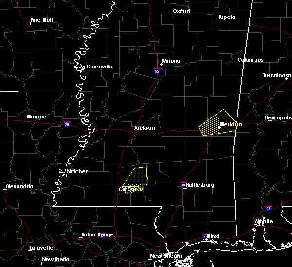 Radar Image for Severe Thunderstorms near Lauderdale, MS at 2/5/2020 9:53 PM CST